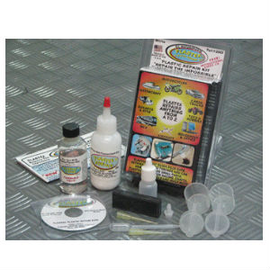 Plastex Standard Kit – Plastic and Acrylic Repair Kit – Black